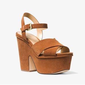 NEW** Michael Kors Divia Suede Platform Sandal